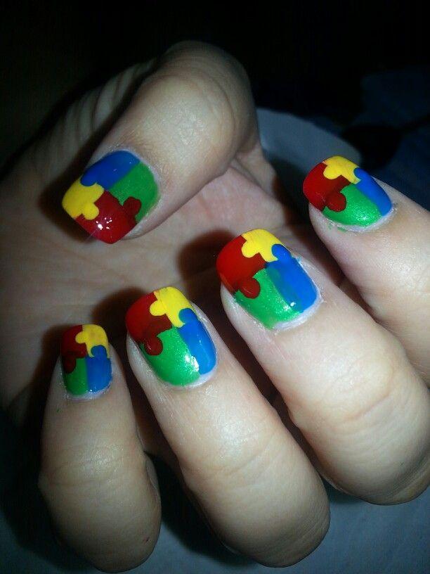 Puzzle nail art design   Nail Art Designs by VH Nailspa   Pinterest