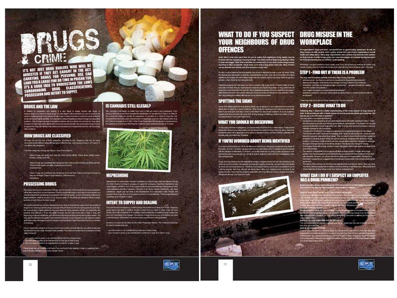 Double Page Spread For The Crime Prevention Initiative Magazine