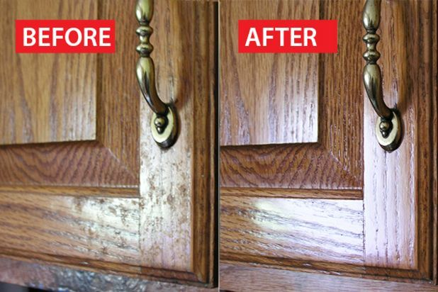 How to Clean Grease From Kitchen Cabinet Doors | painting ...