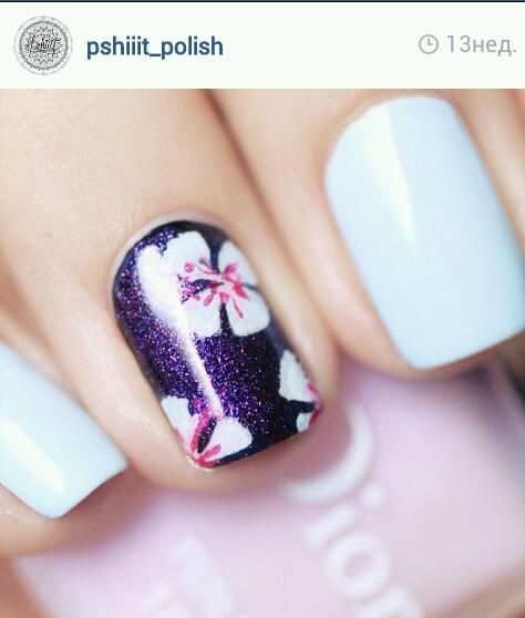 #nails #spring #cute #beautiful #flowers #trendy #blue #sky #lifeisenjoyment