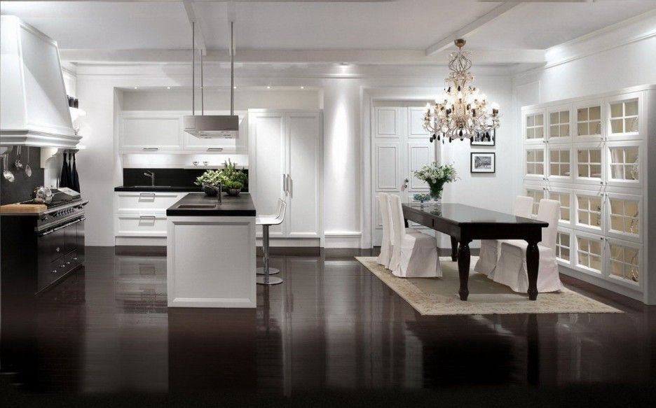 Best Interior Design Modern Dark Wooden Flooring Elegant Dining 400 x 300