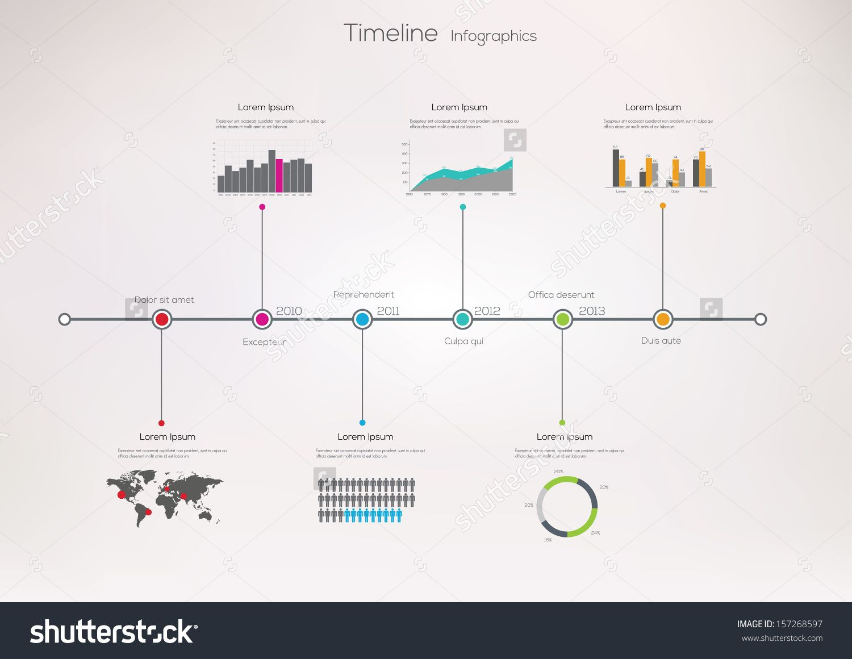 Infografía sobre línea de tiempo. Plantilla de diseño vectorial ...