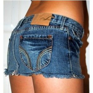 HOLLISTER SHORT BLUE JEAN DENIM MINI SKIRT SZ 0 25 | I'm wearing ...