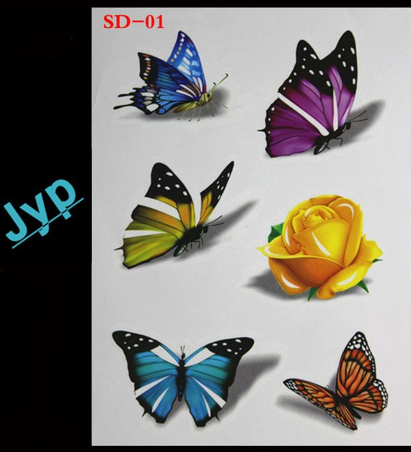 pin on realistic tattoo 3d butterfly wall stickers on wall stickers 3d id=18293