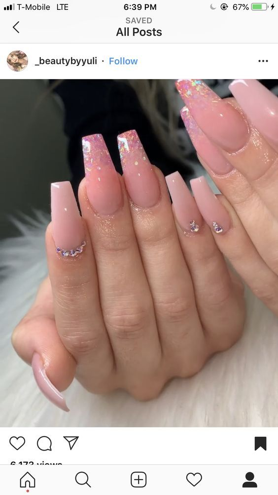 The Ombre Coffin Nails Design are so perfect for 2019 ...