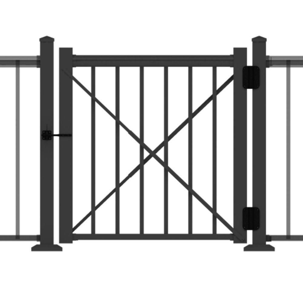 Rdi 4 Ft X 3 Ft Satin Black Aluminum Fence Gate Kit 73020654