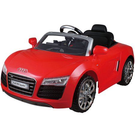 Costway Red Audi Kids 12v Electric Ride On Car With Mp3 Rc Remote Control Car Walmart Com Battery Powered Car Red Audi Remote Control Cars