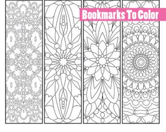 Printable Bookmarks To Color Coloring Page Digital