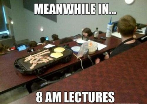 oh my god yes i would do this if i ever had an 8am!!! :D
