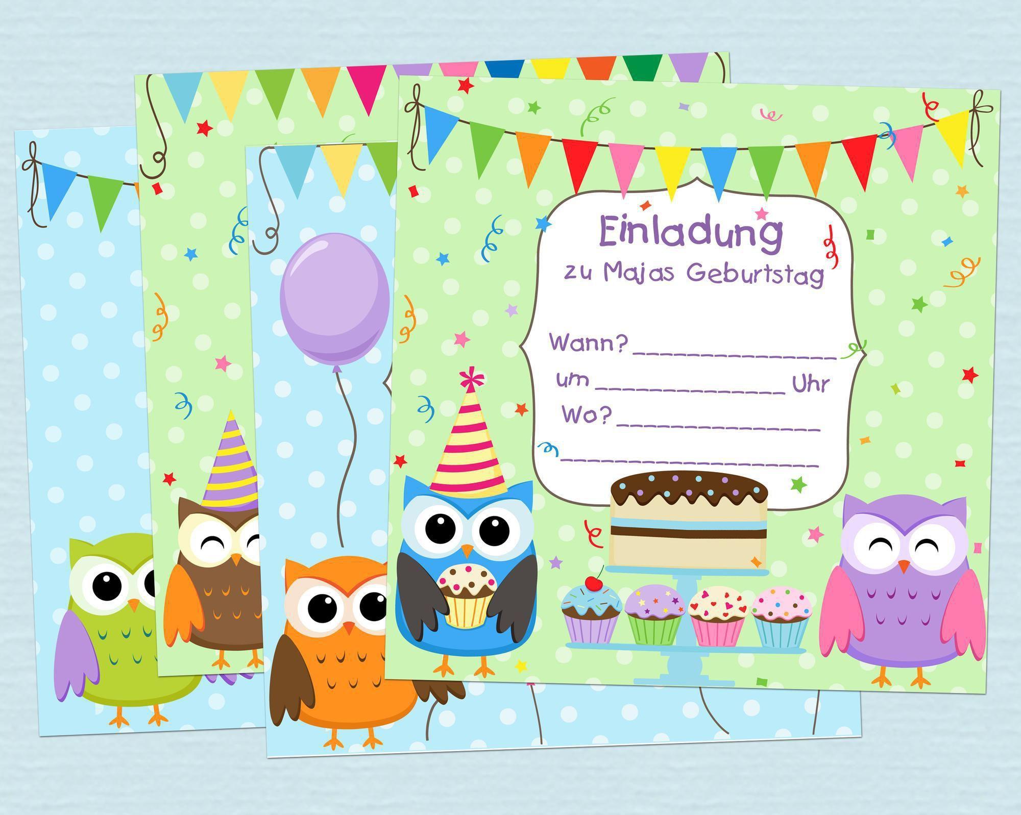 Einladungskarten Kindergeburtstag Kostenlos Gestalten Und