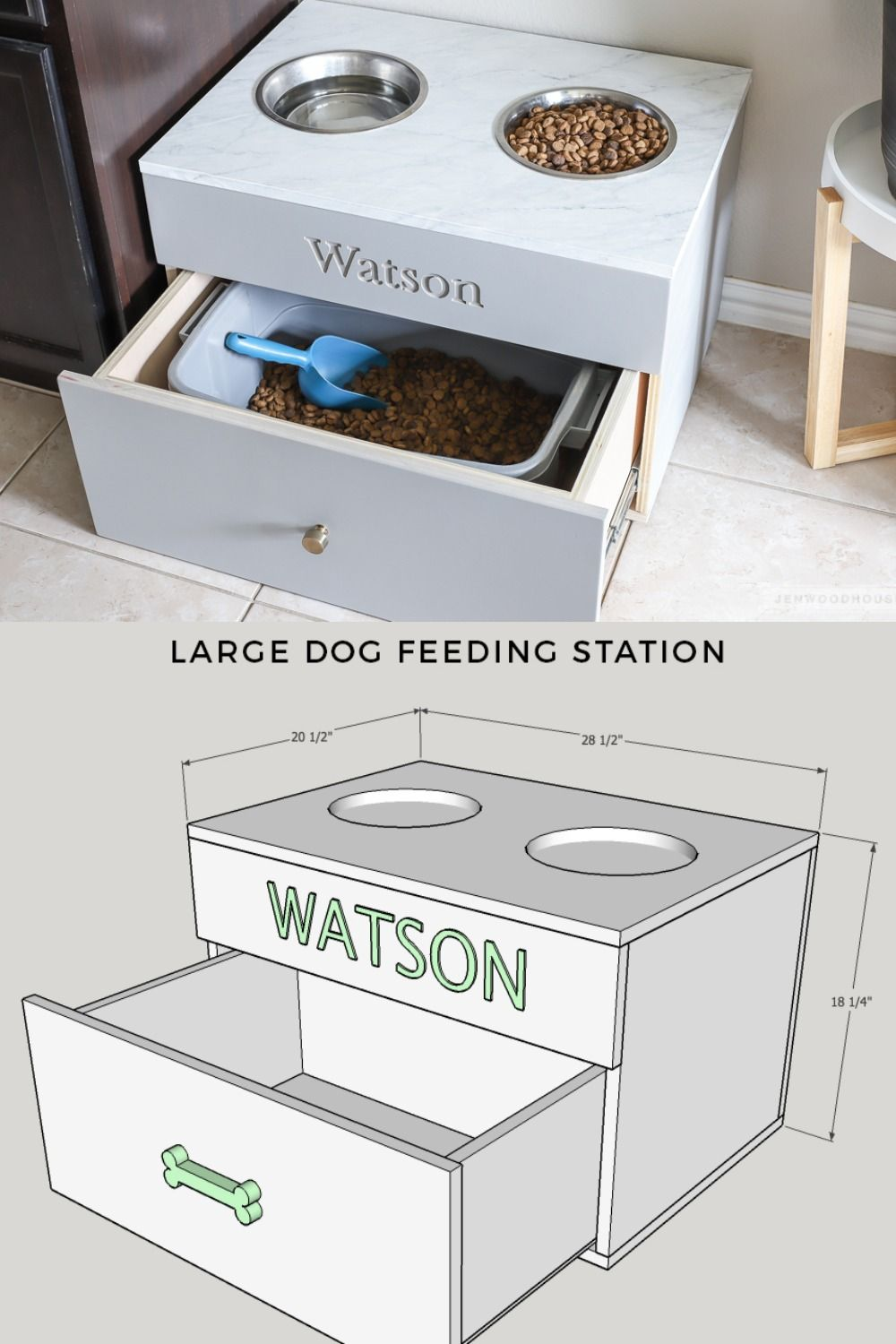 Build Your Favorite Fur Baby A Food Station Fit For A King This
