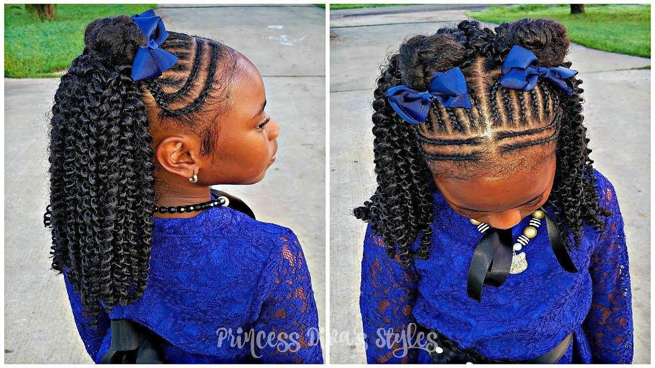 Girls Cute Protective Hairstyle | Picture Day 2018 ...