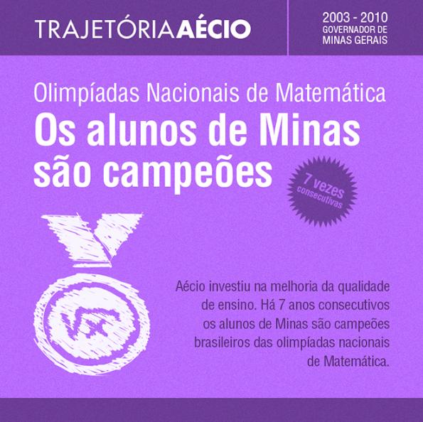 Alunos de Minas foram campeões das olimpíadas de matemática. #AecioNeves #VamosMudarOBrasil http://aecioneves.net.br/