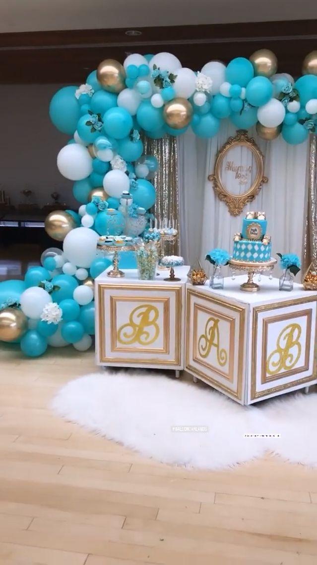 Tiffany And Co.baby : tiffany, co.baby, Tiffany, Shower, Balloons,, Balloons, Decorations