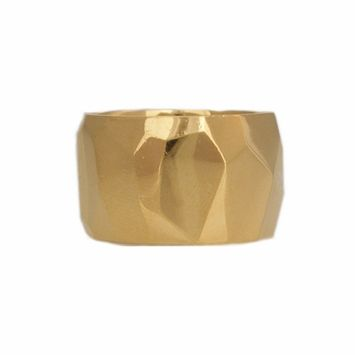 Ariel Gordon faceted cigar band ring.