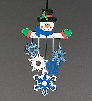 Mobile bonhomme de neige bricolage pinterest - Mobile noel maternelle ...