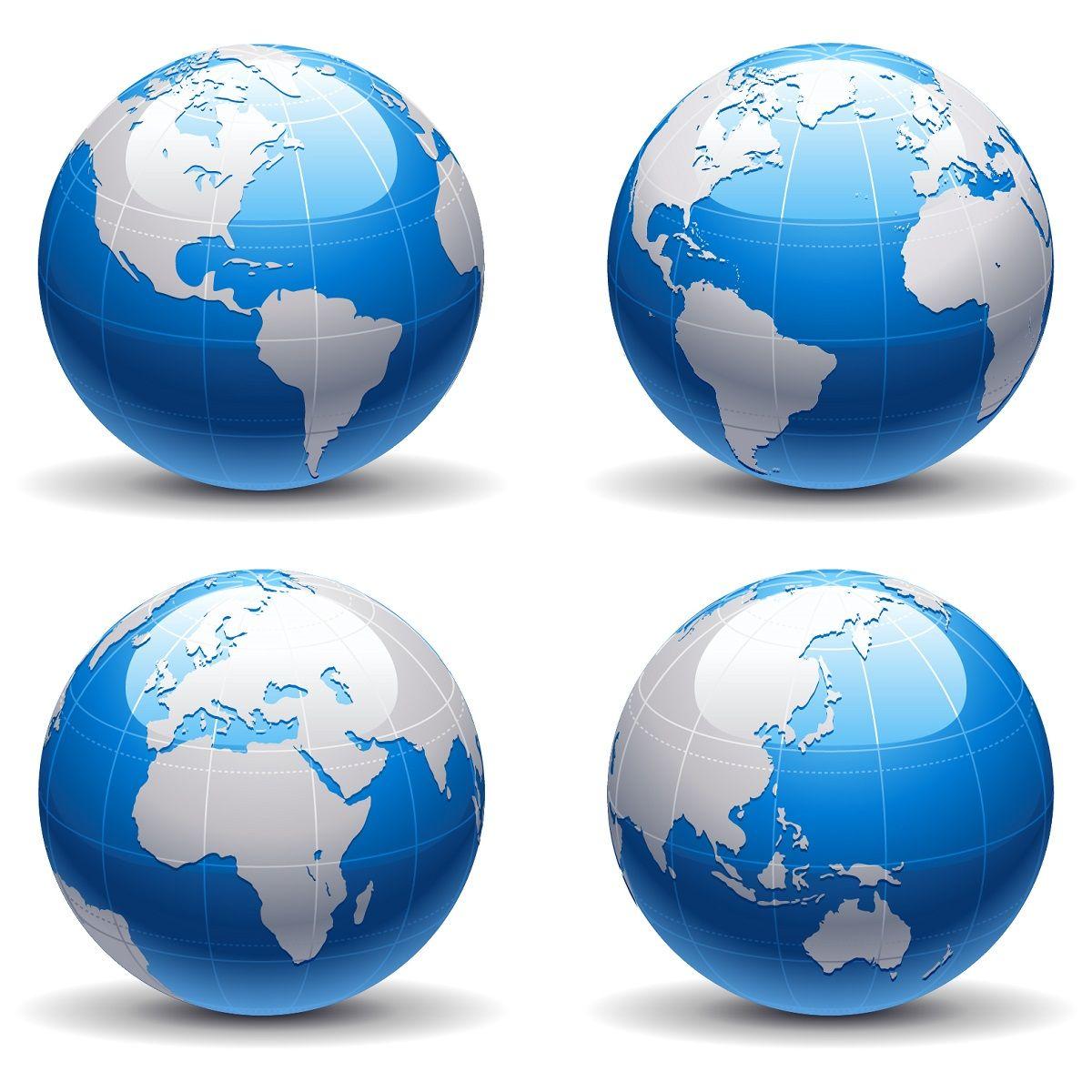 Blue Earth Globe Download Vector
