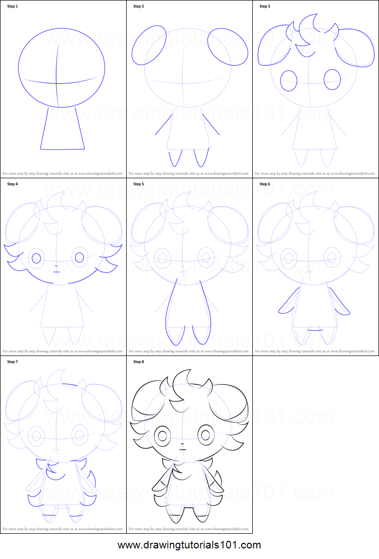 How to draw espurr from pokemon printable step by step - Apprendre a dessiner pokemon ...