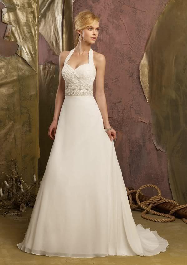 015c93fbc3bc Halter Spring Summer Chiffon Wedding Dress Country Beach Bridal Gown Dress Abito  Da Sposa