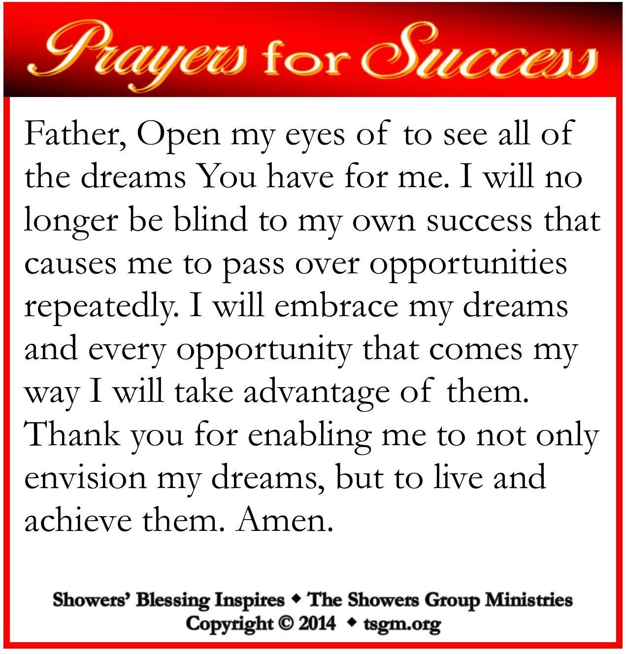 PRAYER FOR SUCCESS Jun 25 | Prayer | Prayer for success