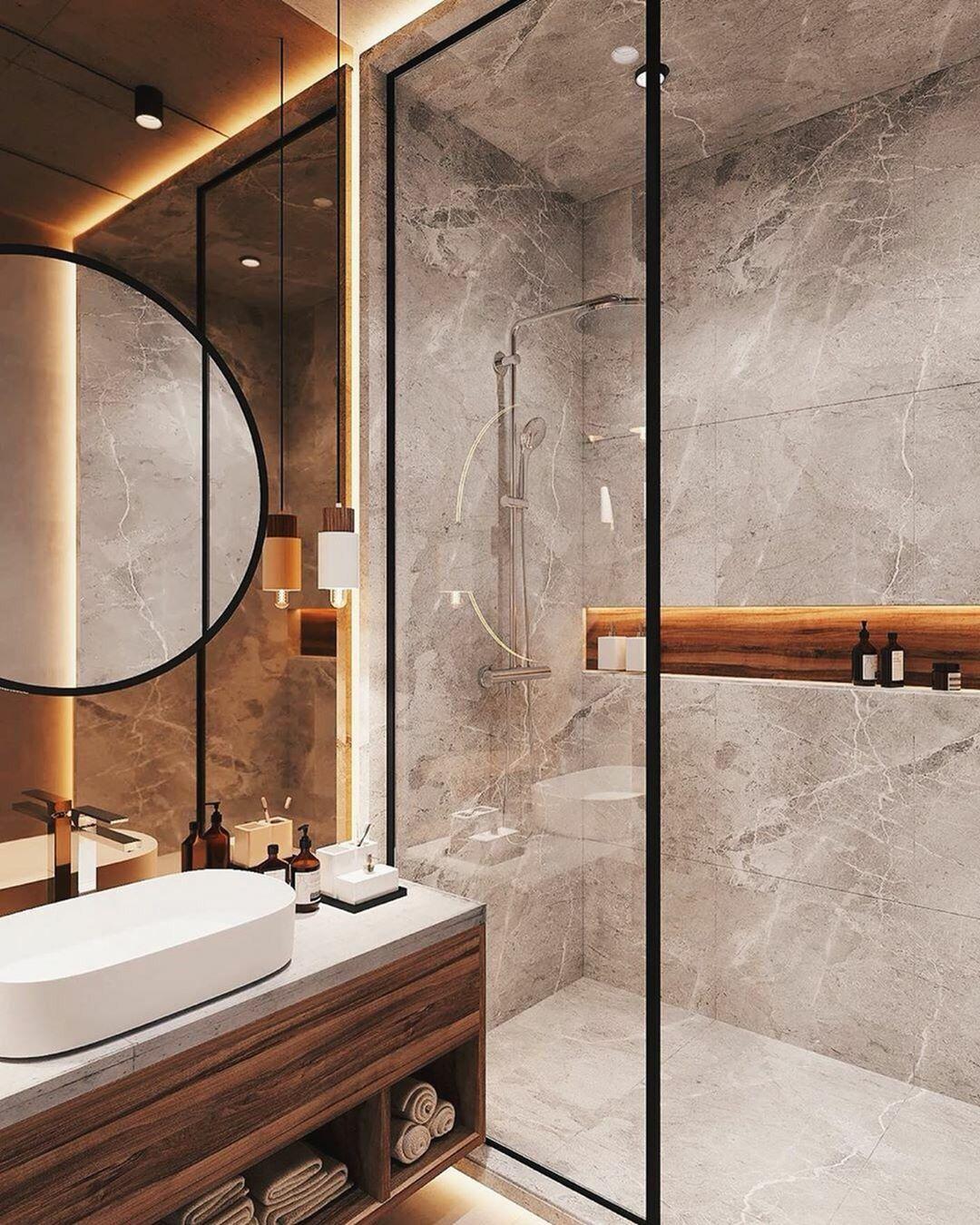 Bathroom Inspiration Interior Of Loft Decoration Homedecor Homedesign Homeideas Bathroom Decor Luxury Modern Bathroom Design Bathroom Interior Design