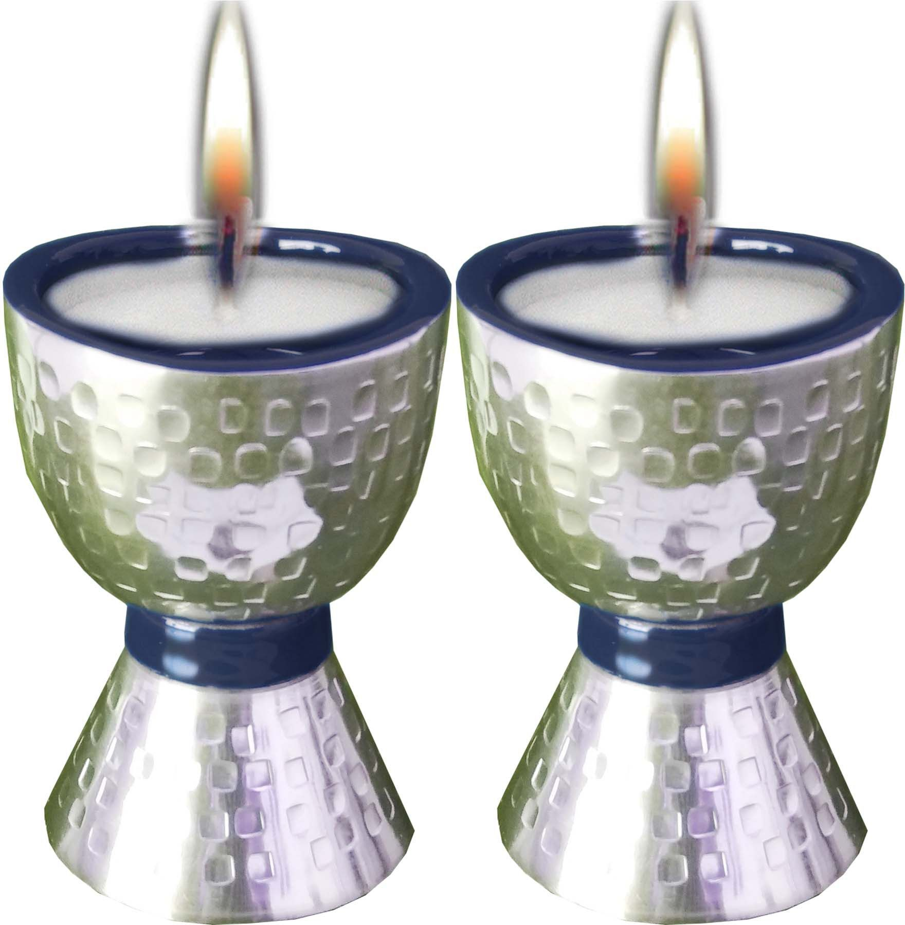 Candle Holders Hammered with Enamel Size 12*10 Cm. Weight 0.15 Kg.