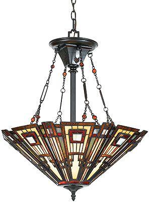 Prairie Style 3 Light Bowl Pendant In Valiant Bronze Craftsman Chandeliers Bowl Pendant Vintage Pendant Lighting