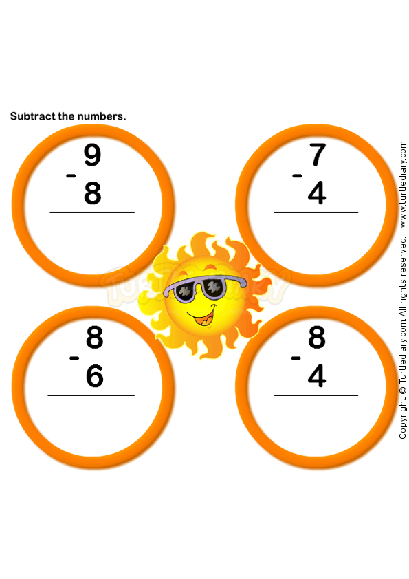 Subtraction Worksheet 7 - math Worksheets - kindergarten Worksheets ...