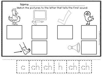 digraph ch sorting pictures that begin with ch student the o 39 jays and scissors. Black Bedroom Furniture Sets. Home Design Ideas