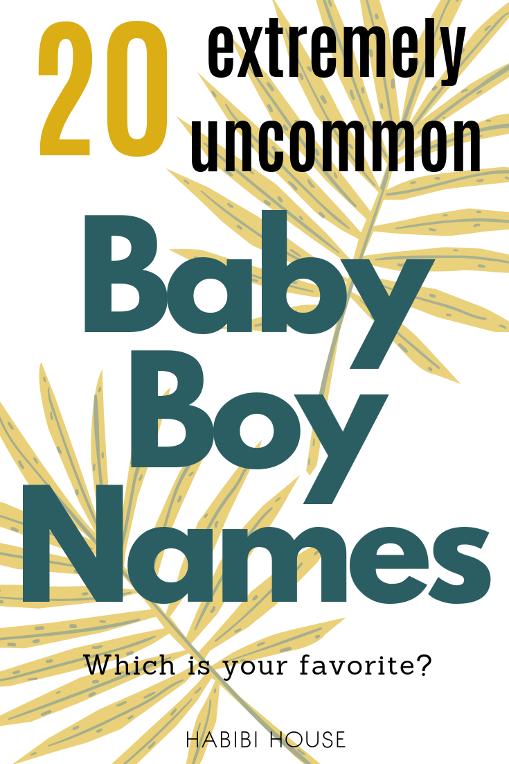 20 Extremely Uncommon Baby Boy Names For Unique Parents ...