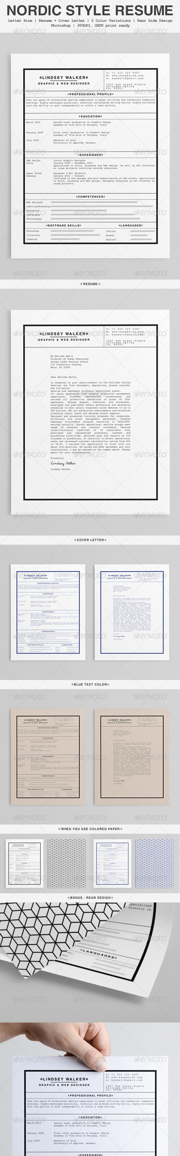 Nordic Style Minimalist Resume Template Psd Download Here Http