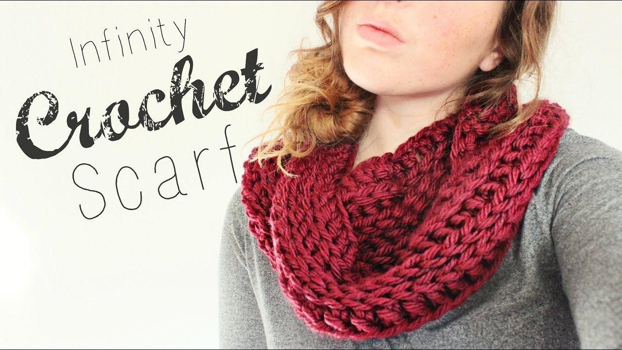 Crochet Infinity Scarf. Crochet Tutorial. Veronica Marie   crochet ...