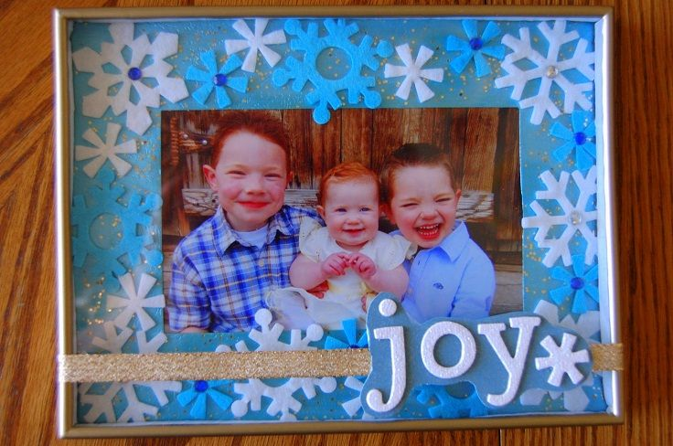 Top 10 DIY Christmas Picture Frames | Christmas picture frames ...