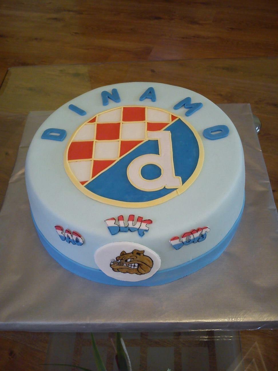 Dinamo Zg Cake Soccer Cake Cake Birthday Cake