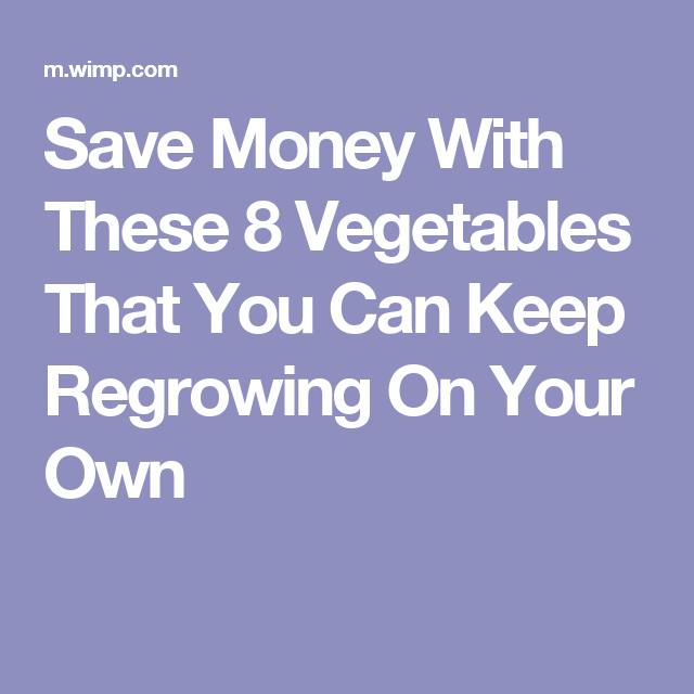 Save Money With These 8 Vegetables That You Can Keep Regrowing On Your Own