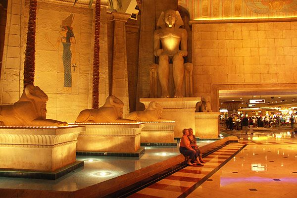 the Luxor Hotel Casino lobby Las Vegas USA Bar Luxor