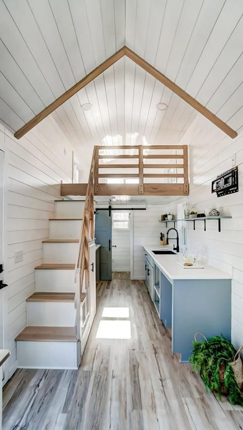 "24' ""Ocracoke"" Tiny House on Wheels by Modern Tiny Living #tinyhousekitchens"
