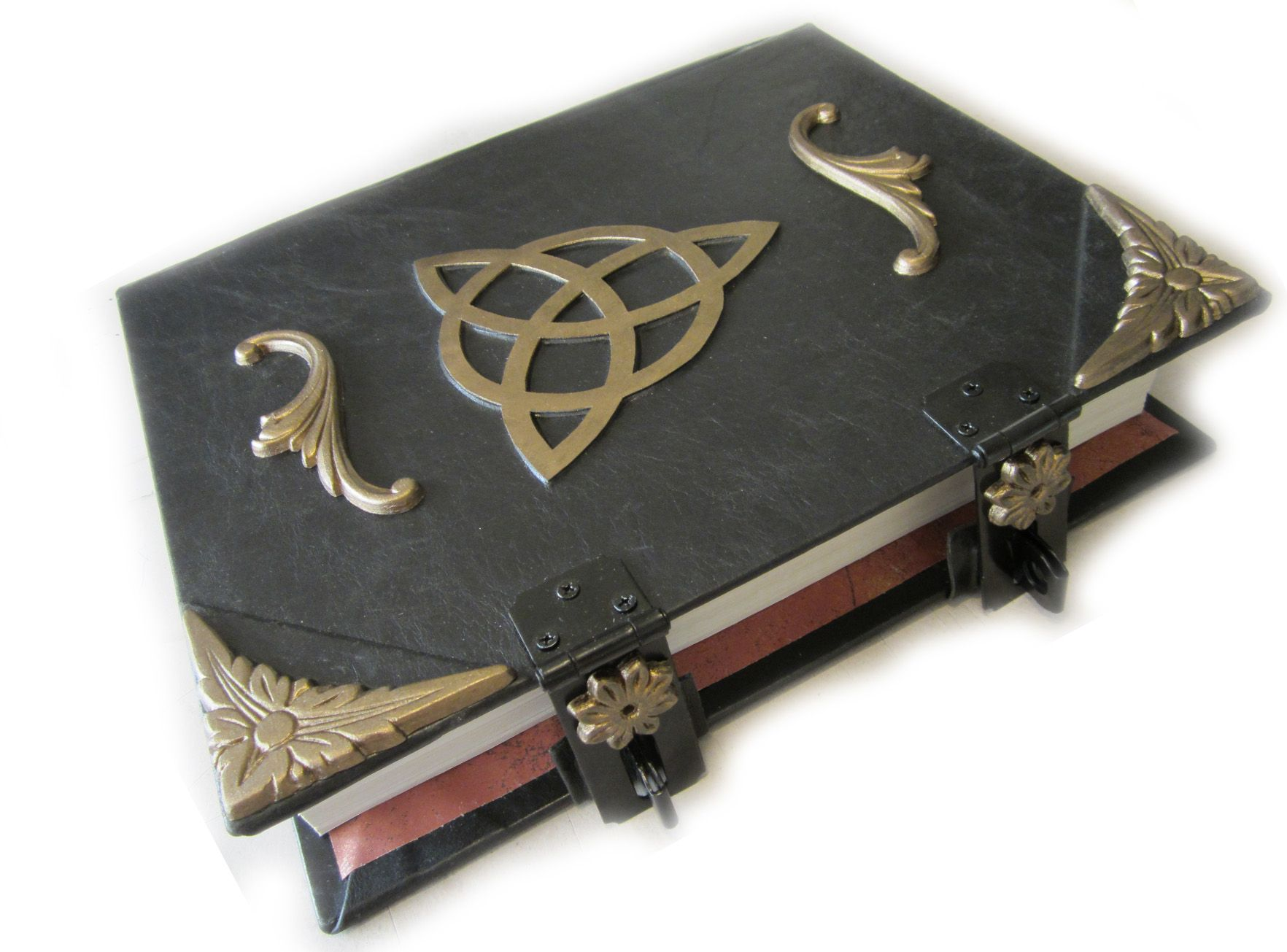 9 best book of shadows images on pinterest book of shadows custom made triquetra book of shadows with golden embellishments and latches fandeluxe Document