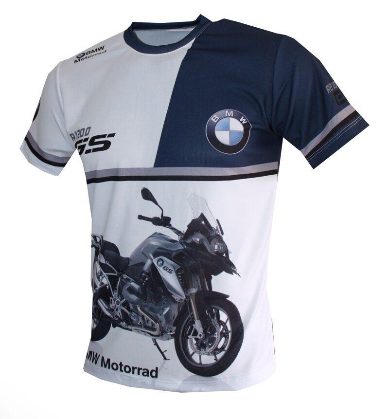 BMW Logo R1200GS Motorrad high quality graphics sublimated men/'s t-shirt