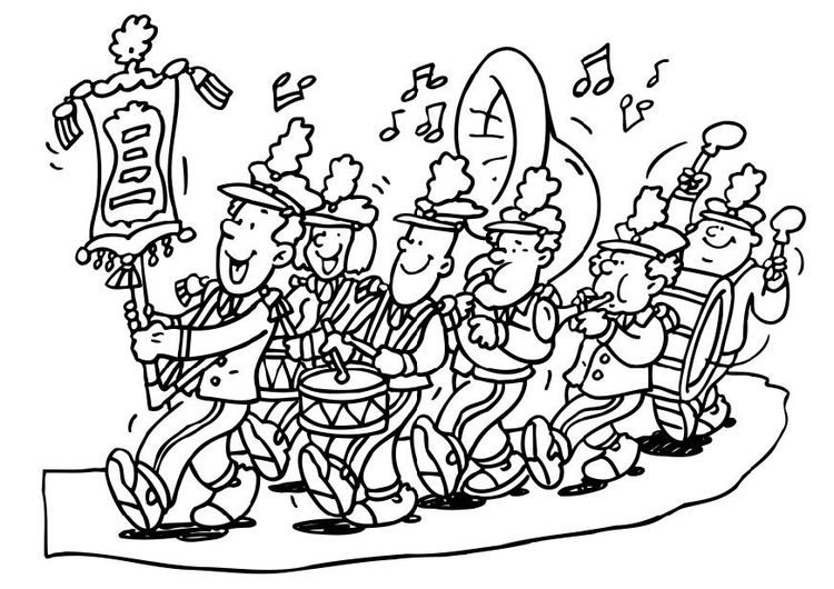 Coloring Page Fanfare Coloring Pages Color Marching Band Humor