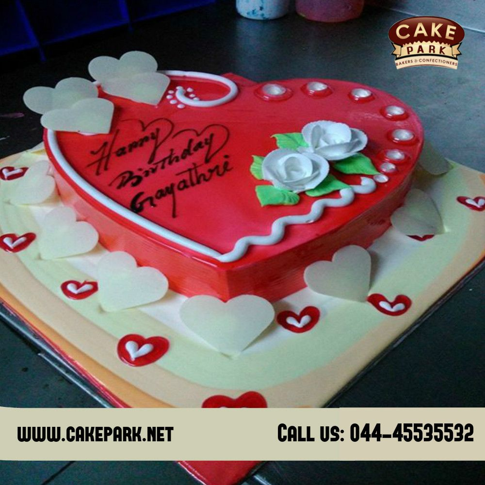 Strawberry Heart Shape Birthdaycake With White Chocolate Truffle Topping Order Cakes Online In Chennai And Bangalore