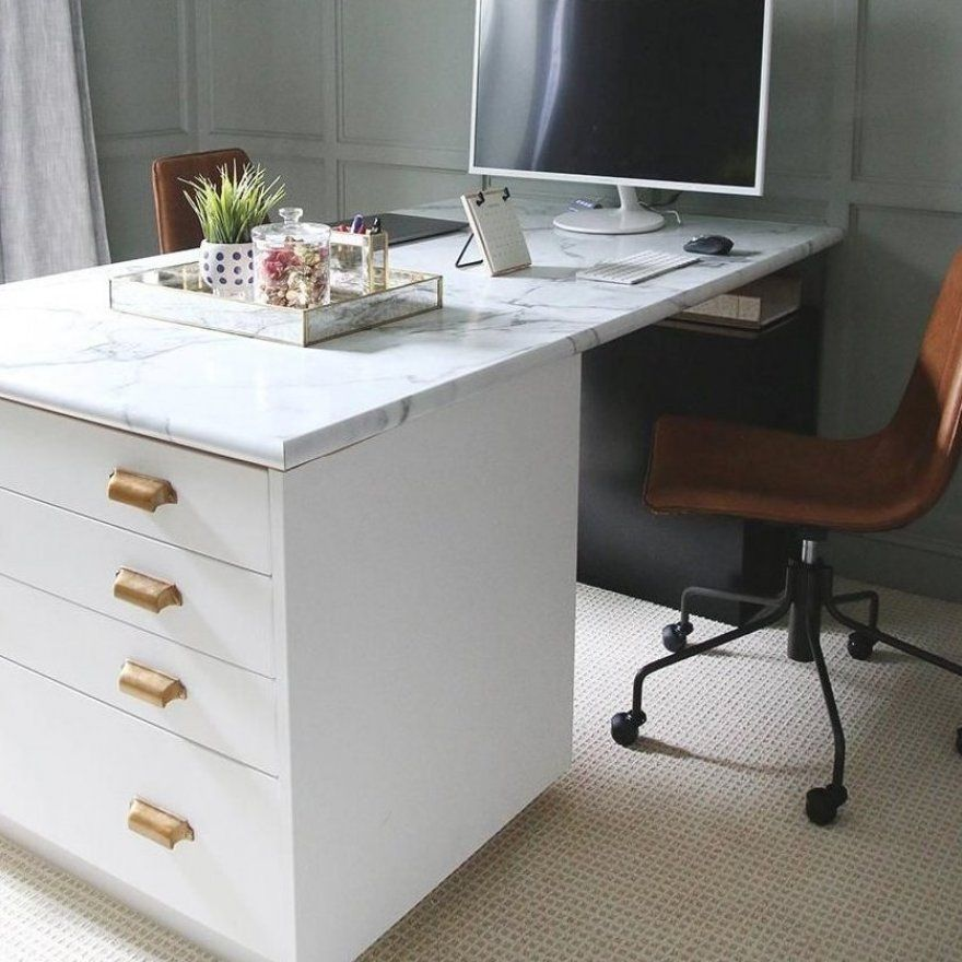 Chris Loves Julia Ikea Office Hack With Semihandmade Cabinet Fronts Trendyoffice Smartstorage Storagehacks In 2020 Ikea Office Hack Ikea Office Office Hacks