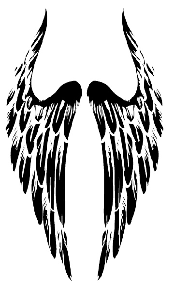 Tribal Angel Wings Tattoo Png 360 600 Wings Tattoo Angel