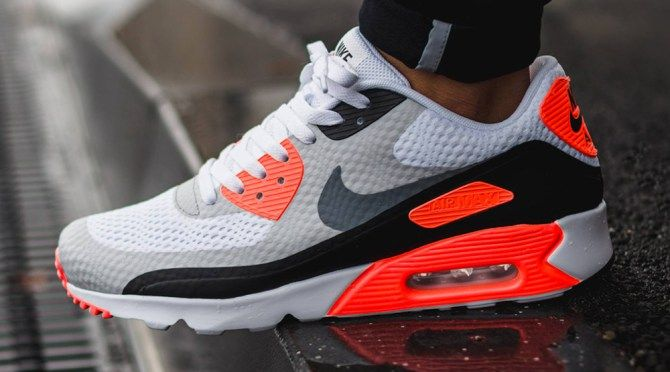 """best sneakers 71cdc 7f146 Nike Air Max 90 Ultra Essential """"Infrared"""" Color  White Cool  Grey-Infrared-Black Style    819474-106"""