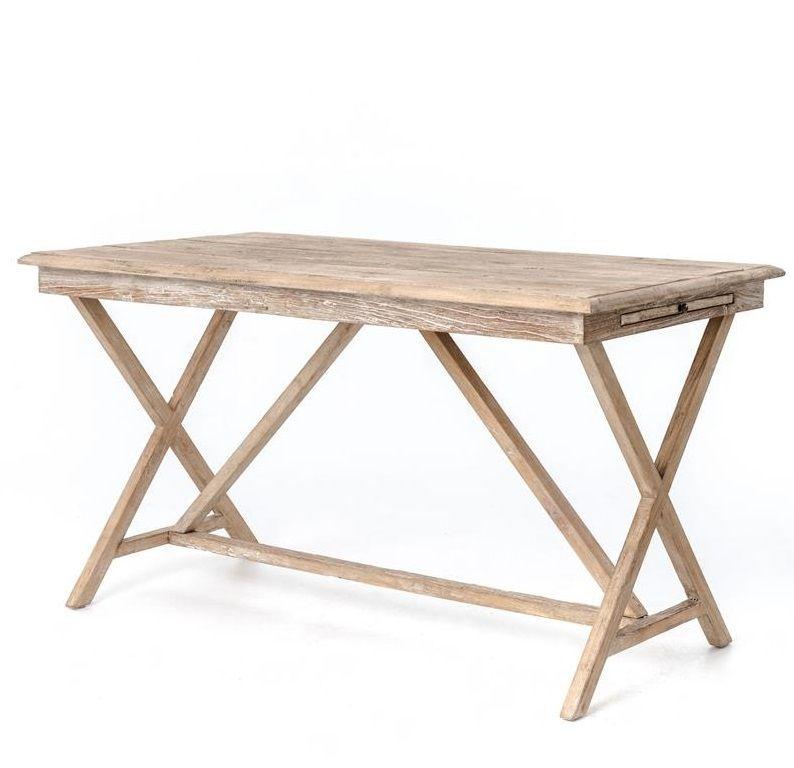 Palma Rustic Whitewash Reclaimed Wood Desk Reclaimed Wood Desk