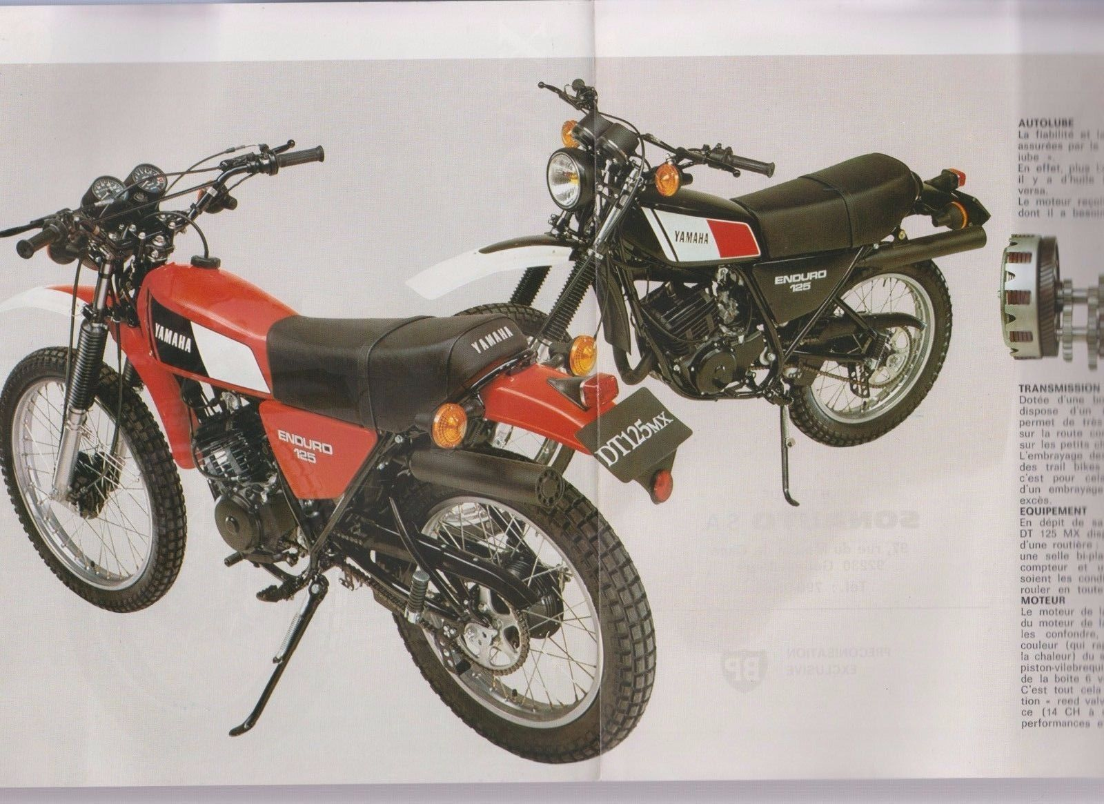 yamaha dt 125 mx motorcycle brochure ebay vintage. Black Bedroom Furniture Sets. Home Design Ideas