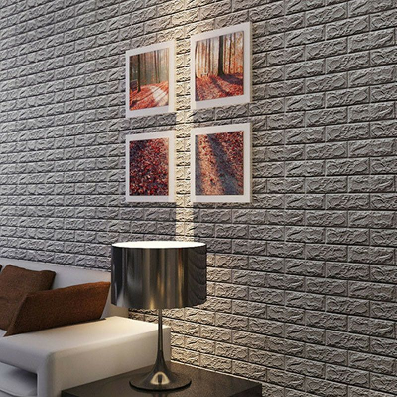 Details About 3d Brick Sticker Wallpaper Waterproof Pe Foam Panel Decor Tv Wall Stone Look Usa Tv Decor Foam Panels Stone Wall