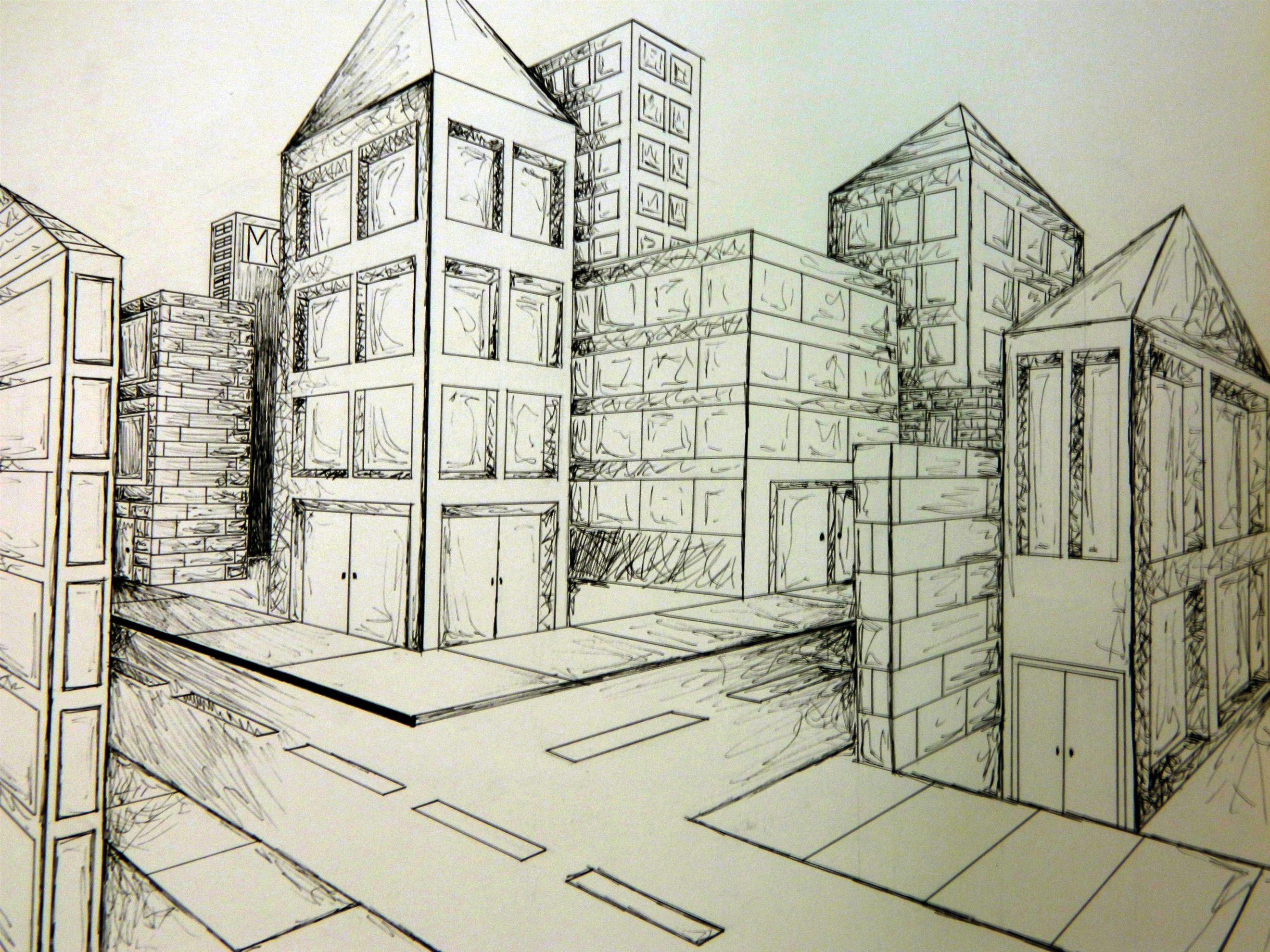 Linear Perspective Art Drawing