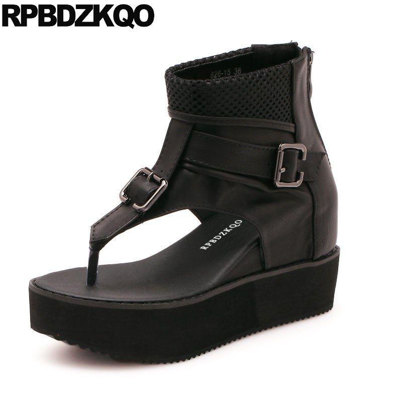 fee35619a2d0 Women Black Designer Ladies Booties High Heels Cheap Shoes Platform Wedge  Sandals Summer Thong Boots Fashion