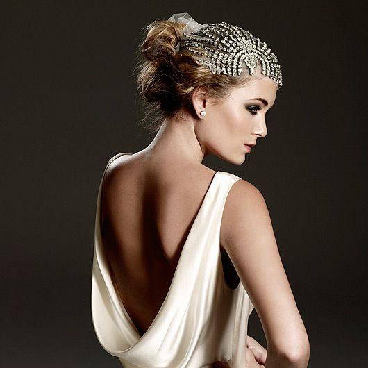 Johanna Johnson Wedding Hair Piece 1930s Style Luxury